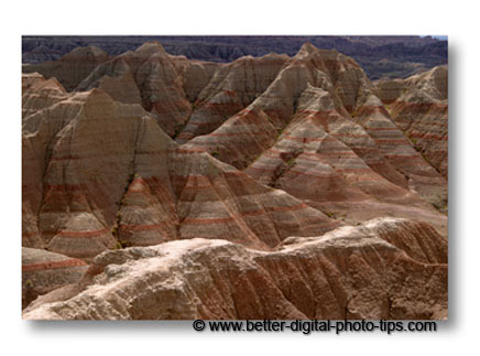 Travel photography of painted desert