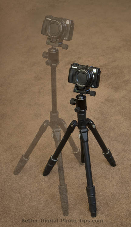 Reduced stability with tripod center pole extended