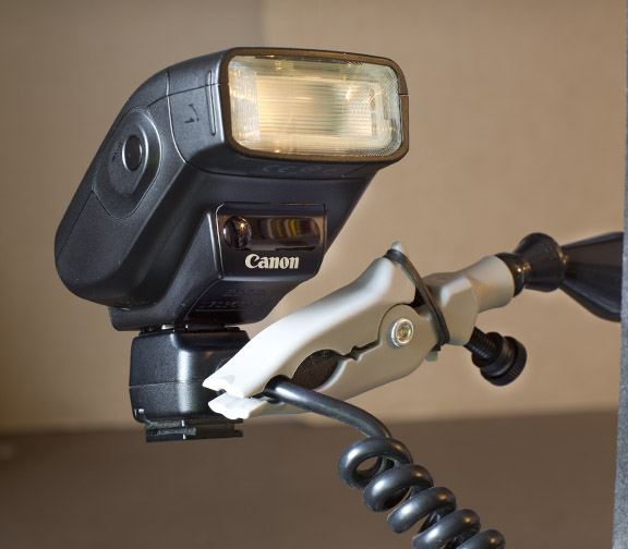 Use a Plamp to Hold a Small Flash