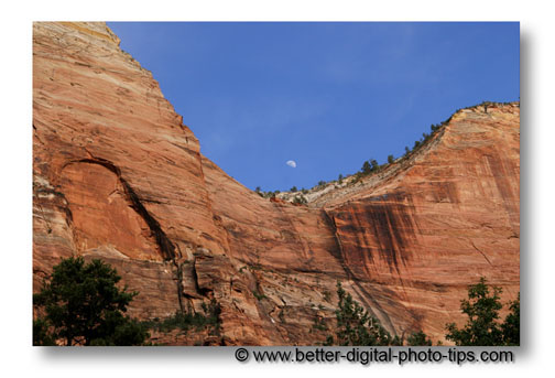 Vacation photo tips from Zion