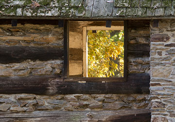 Valley Forge cabin window
