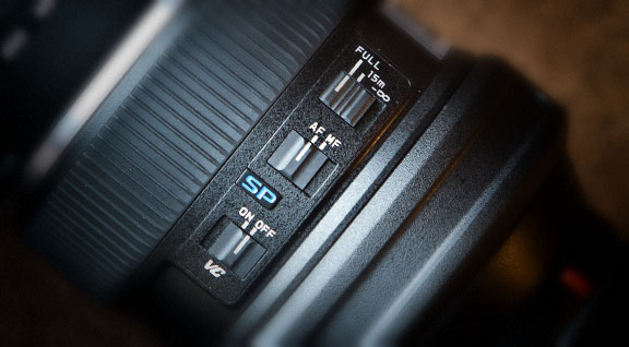 Vibration Control Image Stabilization switches on Tamron 150-600
