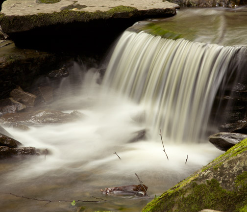 Waterfall with slower shutter speed