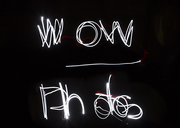 A wow photo - painting with light