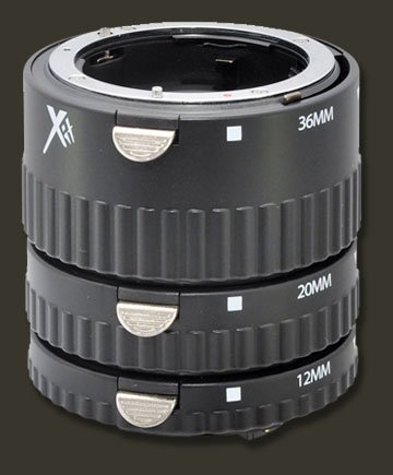 3 Stack-able macro extension tube lenses