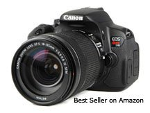 One of the best selling amazon cameras is the Canon Rebel T4i