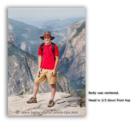 Break the rule of thirds in photography by centering your subject-on half dome