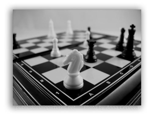 Picture of Chess Board as an Example of Depth of Field