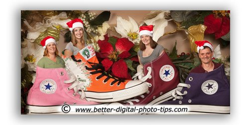 Creative Retouching for posed portrait in shoes