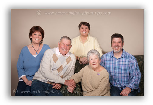 Use the c as a base to design the family photo