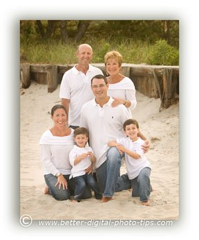 Family Portrait Pose of 6 people