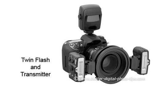 Twin, lens-mounted flashes is another alternative for lighting your macro subjects