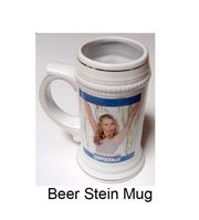 Beer stein mug with personalized photo