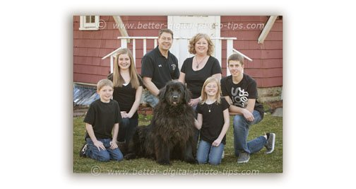 Outdoof Family Photography With Dog
