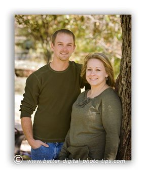 Outdoor portrait of a couple