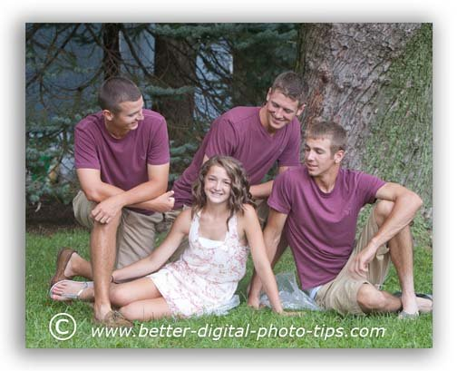 Group  portrait tip - Change where the subjects are looking