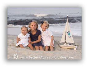 Portrait Photography Pose - Children on the Beach