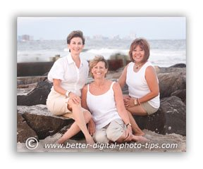 Pose of 3 females on the rocks