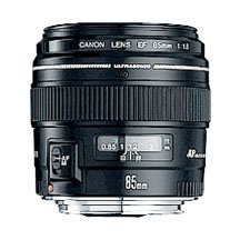The Canon 85mm  f1.8 lens is a prime lens