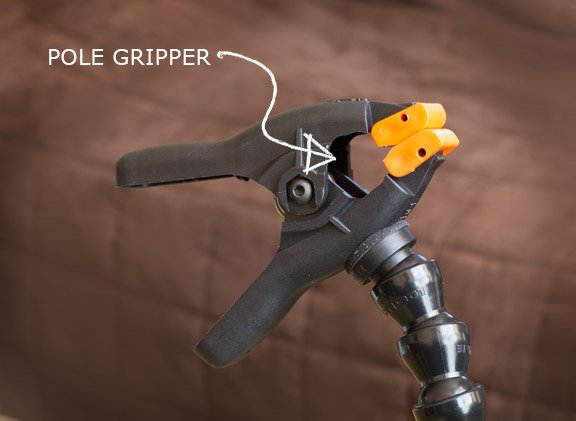 Pole grip of Wimberley Plamp II