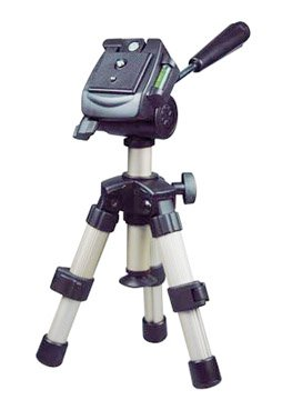Adjustable tabletop tripod