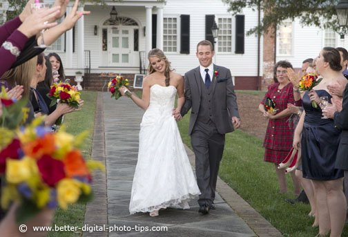 Zoom lenses give you the ability to crop just right in the camera for wedding photography