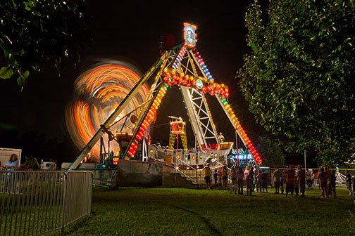 Using a tripod at a carnival gave me a combination of blurred parts and sharp parts of the scene.<br><br>