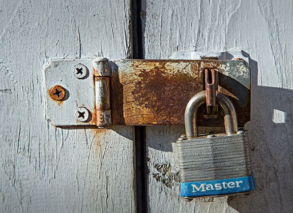 Close-up Photo of padlock in the sun.