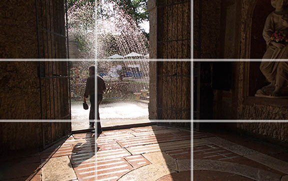 Composition rule of thirds example