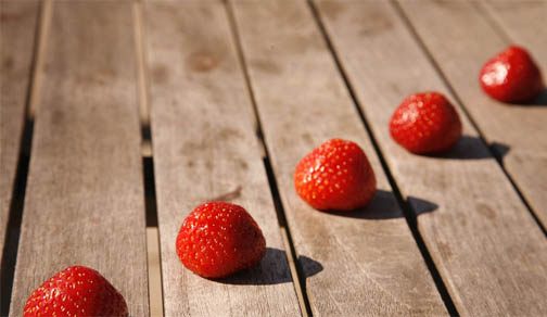 Diagonal Composition of Strawberries