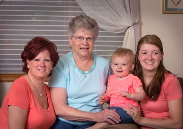 4 Generation Family Pose of 4