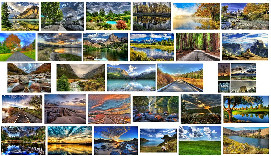 HDR nature photo collection
