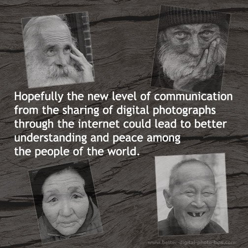 Infographic-Internet sharing of photos of the elderly.