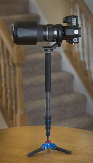 Koolehaoda Monopod Supporting a Canon 70D and a Tamron 150-600mm Lens
