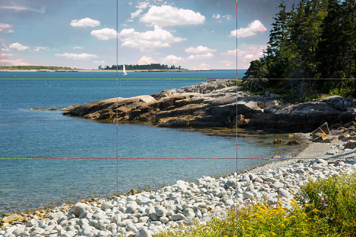 Landscape rule of thirds example