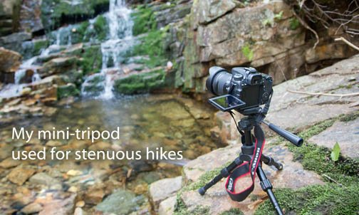 Mini tripod for hiking