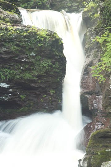 Over-exposed waterfall picture