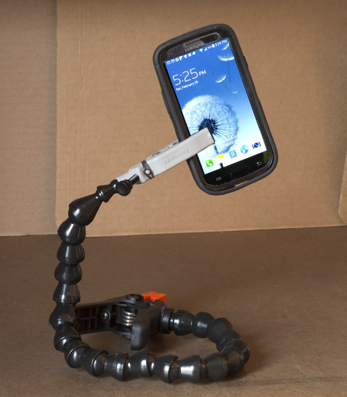 Plamp as a Cell Phone Holder