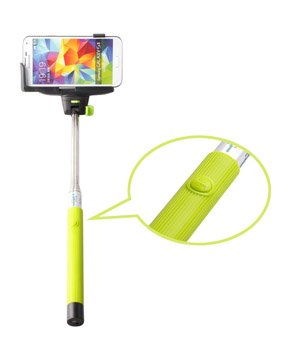 Selfie Monopod With Remote Shutter Release on Handle