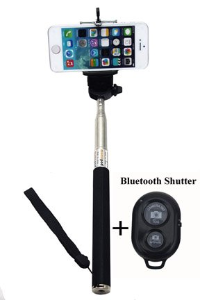 Selfie Pole With Bluetooth Shutter Release