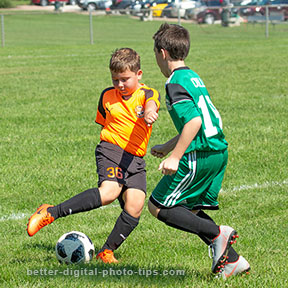 Youth soccer action photo